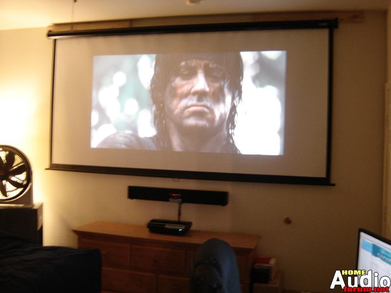 bedroom projection setup build logs home audio forum